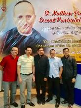 At the 2nd St. Matthew Provincial Chapter, the four new priests posing with Fr. Ezpeleta, Vicar General and the first Rogationist missionary in Vietnam.