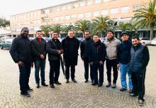 Foto di gruppo con Don Carlo Maria Zanotti sdb, direttore del corso per formatori presso l'UPS