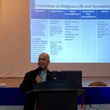 Fr. Ariel Tecson reports on the sector on Religious Life, Formation and Vocation Ministry.