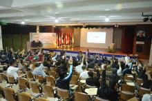 First Assembly session at Di Francia Auditorium of the Rogationist College in Cavite.
