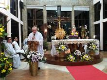 The Superior General Fr. Rampazzo presiding over the opening Mass of the Provincial Chapter at St. Matthew Chapel in the Oasis of Prayer in Silang, Cavite.