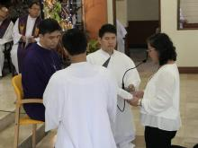 Ms. Cecilia De Castro renewing her vows as a lay consecrated of the Missionaries of the Rogate (Missionarie Rogazioniste)