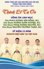 Invitation card for the Thanksgiving Mass in Ho Chi Minh City.