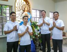 The four Postulants in Paranaque, Philippines.