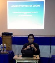 Bro. Nilo Pelobello, SMP Treasurer, reports about the economic status of the Province.