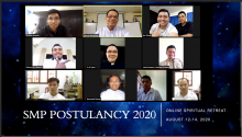 Online streaming of conference and reflections during the retreat in preparation to the Rite of Admission.