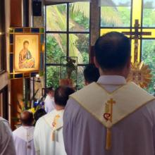 The Chapel of the Oasis of Prayer Spirituality Center is dedicated to St. Matthew, the Patron Saint of the Province.
