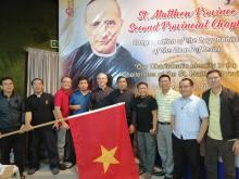Fr. Rampazzo, Superior General, poses with the delegates from Vietnam in the 2nd St. Matthew Provincial Chapter, including the four new priests, then deacons.