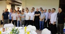 The Vietnamese Rogationists with the Superior General, during a party for the Vietnamese guests who came to Manila for the ordination.