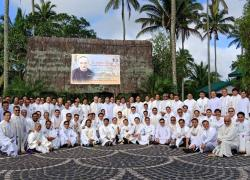 Group picture of the capitulars with Bishop Evangelista of Imus. Ninety-six of 101 capitulars were present on the second day of the Chapter.
