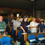 I Capitolari durante la preghiera introduttiva