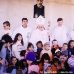 Festa di Santo Annibale. Mons. Pedro Fedalto, Religiosi Rogazionisti e bambini dell'asilo Santo Hilário delle Suore Orsoline.